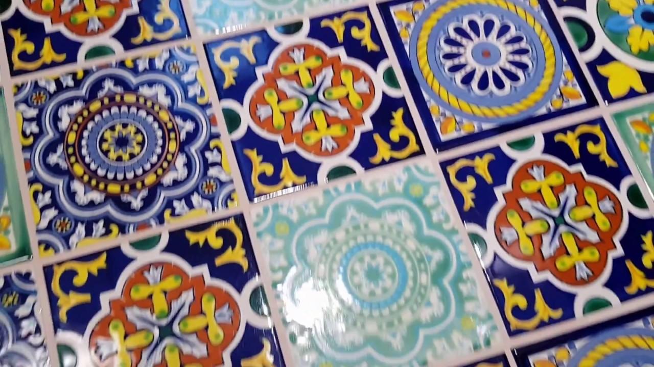 verlegte fliesen aus mexiko bunt handbemalt keramik 15x15 cm