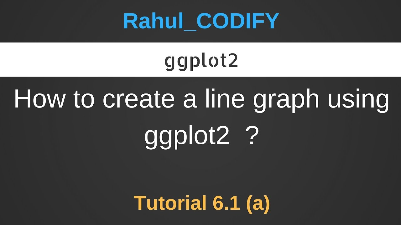 How to create a line graph using ggplot2 ? [R Data Science Tutorial 6 1 (a)]