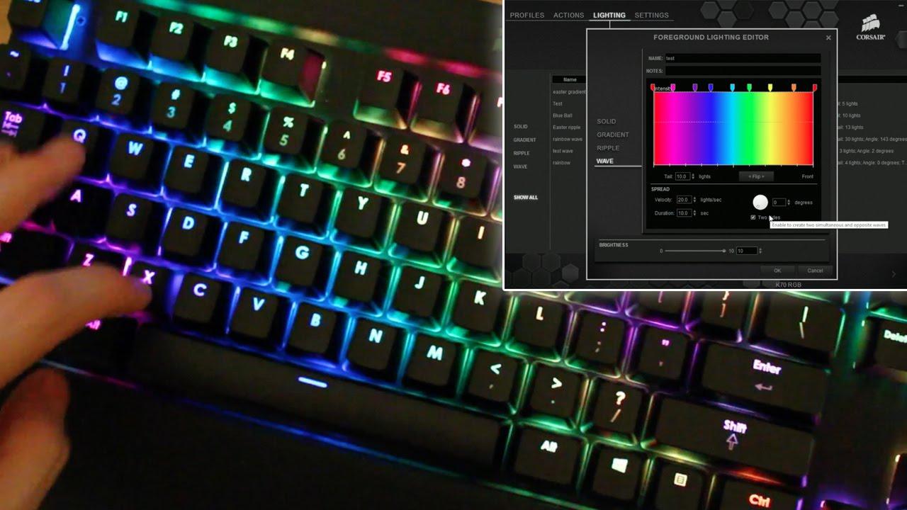 Image Gallery rainbow keyboard