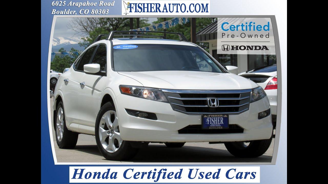 Honda Dealership Denver >> Honda Certified 2010 Honda Crosstour Ex L Boulder Longmont Denver Fisher Honda 158005a