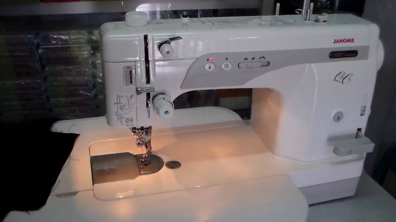 Free Motion With Janome 1600PQC - YouTube