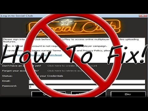 GTA 4 - How to Fix Social Club Login (Multiplayer)