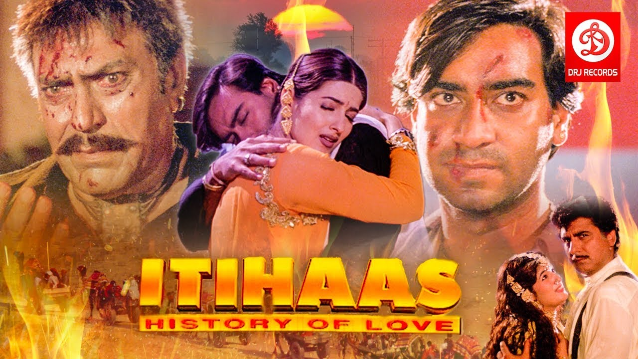 Itihaas - Bollywood Action Movies | Ajay Devgan,Twinkle Khanna & Amrish puri | Superhit Action Movie