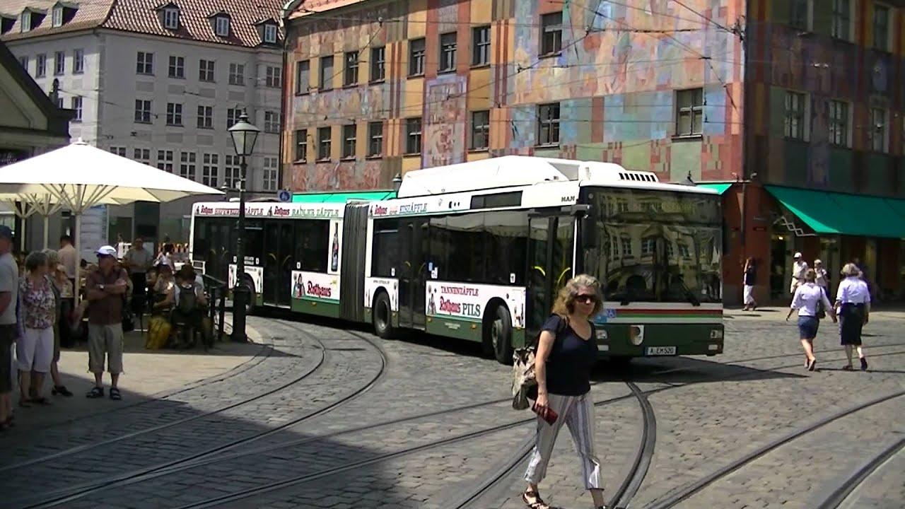 strassenbahn augsburg busse und strassenbahnen am moritzplatz hd youtube. Black Bedroom Furniture Sets. Home Design Ideas