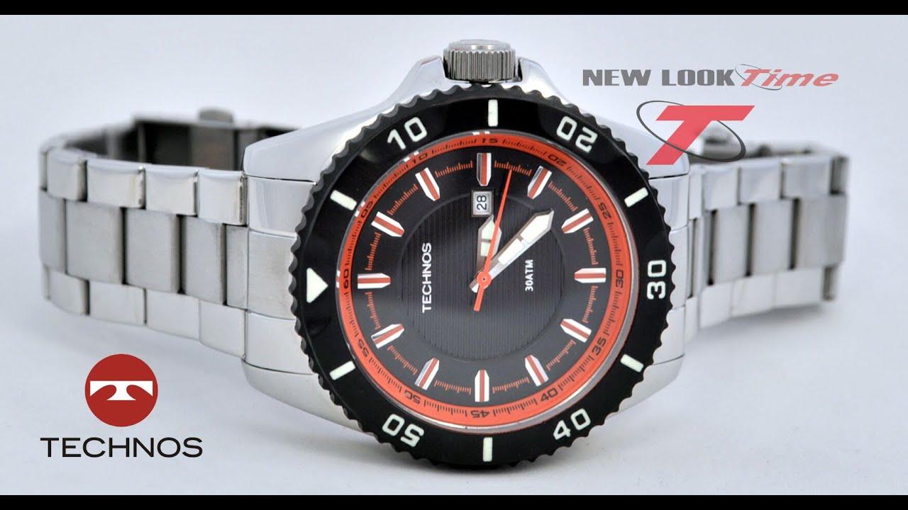 67e7873c0e8 Relógio TECHNOS Performance Acqua 2115KLZ 1P - YouTube
