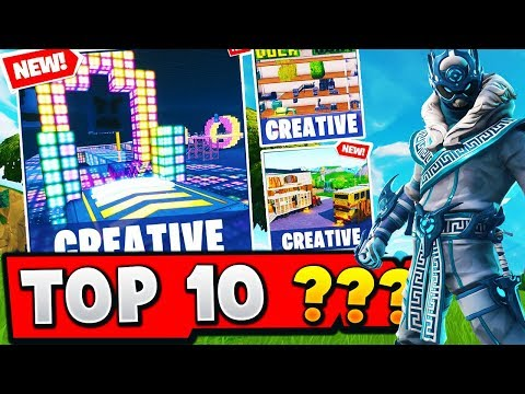 TOP 10 MOST FUN Creative Maps In Fortnite (With Codes)