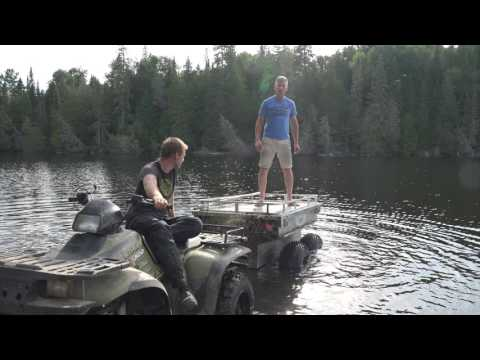 ATV/UTV 4 wheeled Marlon Tub Trailer in action and review!  PowerModz!