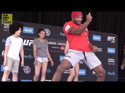 UFC 221: Yoel Romero Teaches Salsa Dancing At Open Workouts!