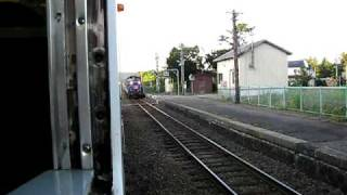 銚子口駅を通過するトワイライトエクスプレス