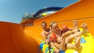 ВЛОГ#2 Аквапарк Одесса Водные Аттракционы Горки и бассейны Waterpark Water rides Slides and Pools