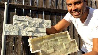 COMO HACER PANEL DE YESO SIMULACION PIEDRA/ making fake stones panels