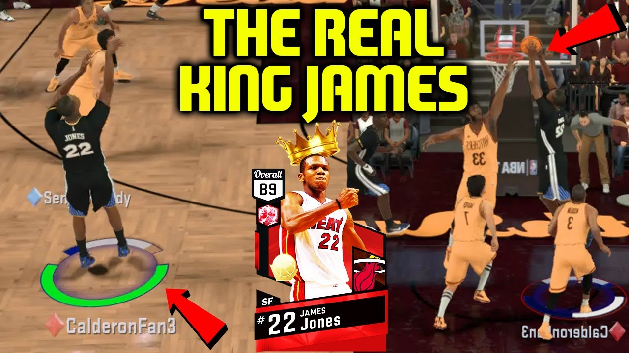RUBY JAMES JONES! THE REAL KING JAMES! LIMITLESS 3 S! NBA 2K17 MYTEAM  ONLINE GAMEPLAY d96d8a3f1