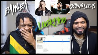 THE GOAT!🔥🔥 Eminem - Lucky You Ft. Joyner Lucas SURPRISE ! KAMIKAZE ALBUM!!  | REACTION