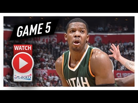 Joe Johnson Full Game 5 Highlights vs Clippers 2017 Playoffs - 14 Pts, 8 Reb, CLUTCH!