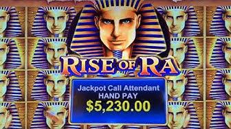 HANPAY JACKPOT!! RISE OF RA SLOT MACHINE ➜ SUPER MEGA BONUS WINS