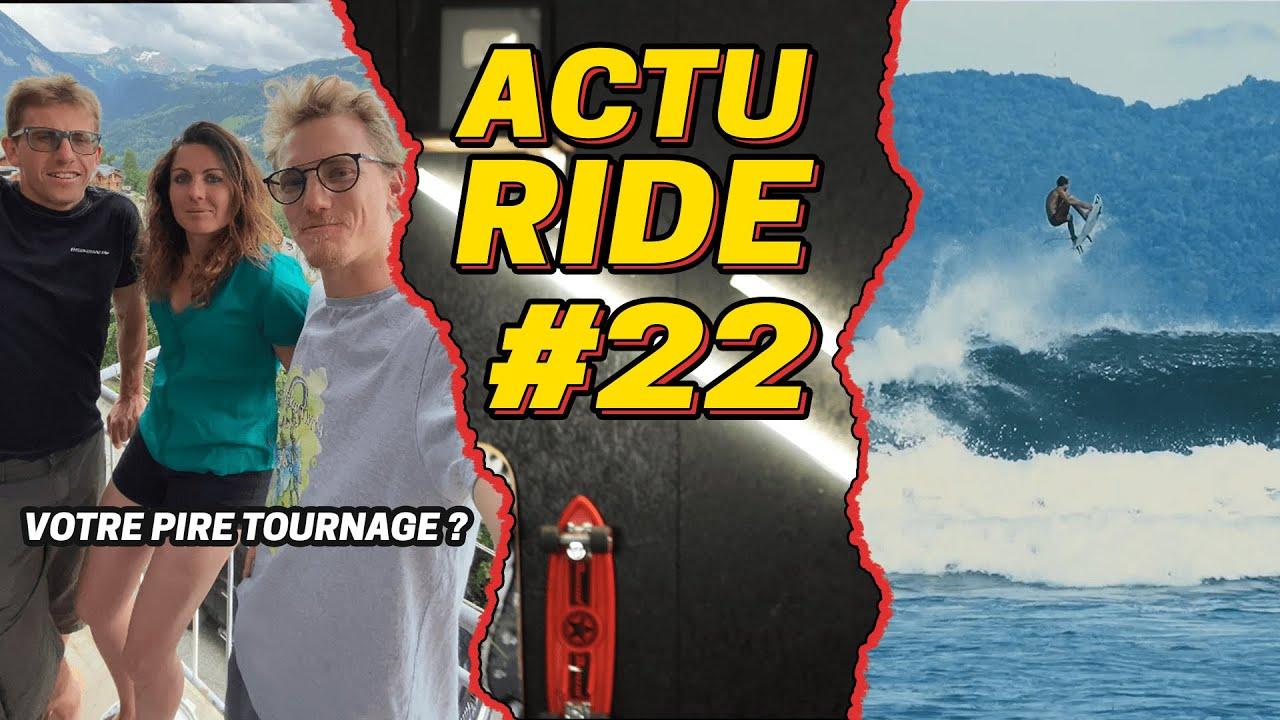 ACTU RIDE #22 : Grosse frayeur en trottinette freestyle, Winter Activity, skate, surf et FMX !