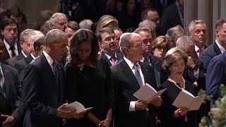 Former presidents honor John McCain at memorial service