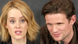 Claire Foy & Matt Smith Interview The Crown Premiere
