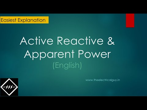 Active,Reactive & Apparent Power | you'll not get easy expla