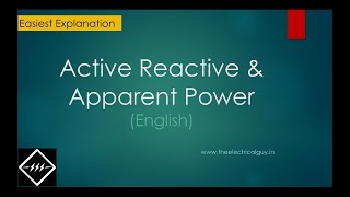 Active,Reactive & Apparent Power | you'll not get easy explanation than this | TheElectricalGuy
