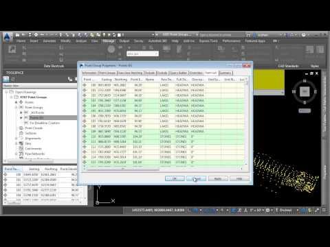 AutoCAD Civil 3D 2015 Tutorial | Point Groups