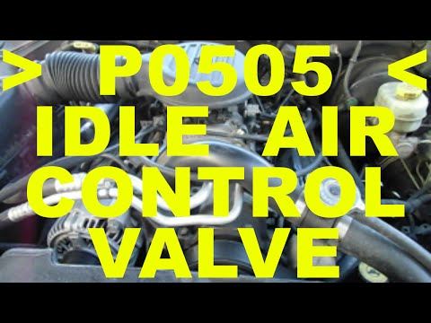IDLE AIR CONTROL valve IAC replacement P0505 trouble code check engine light Chrysler 5.9 L V8 cars