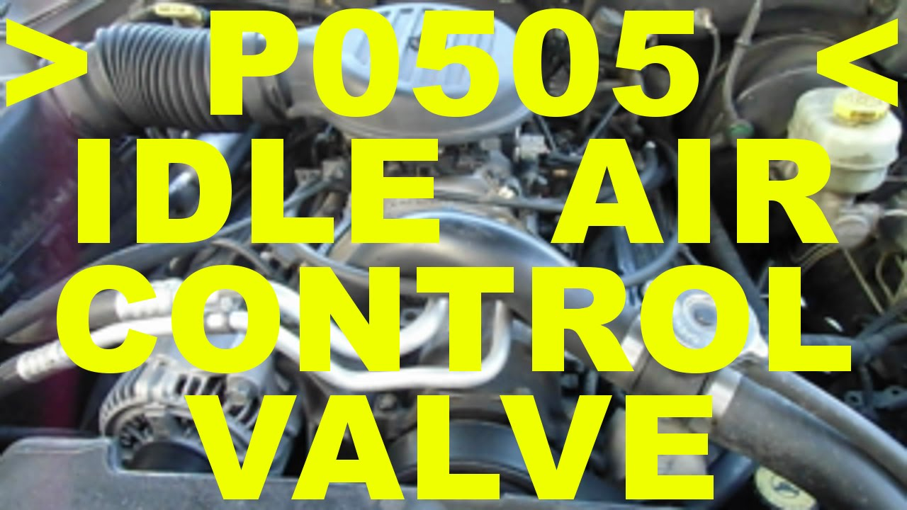 small resolution of idle air control valve iac replacement p0505 trouble code check engine light chrysler 5 9 l v8 cars youtube
