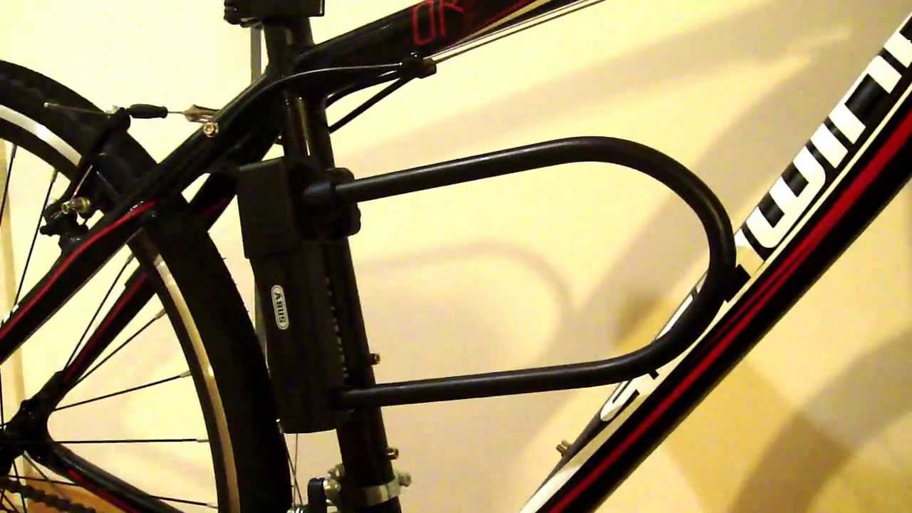 How To Install An Abus Sinus Bike Lock Part 2 Of 2 Youtube