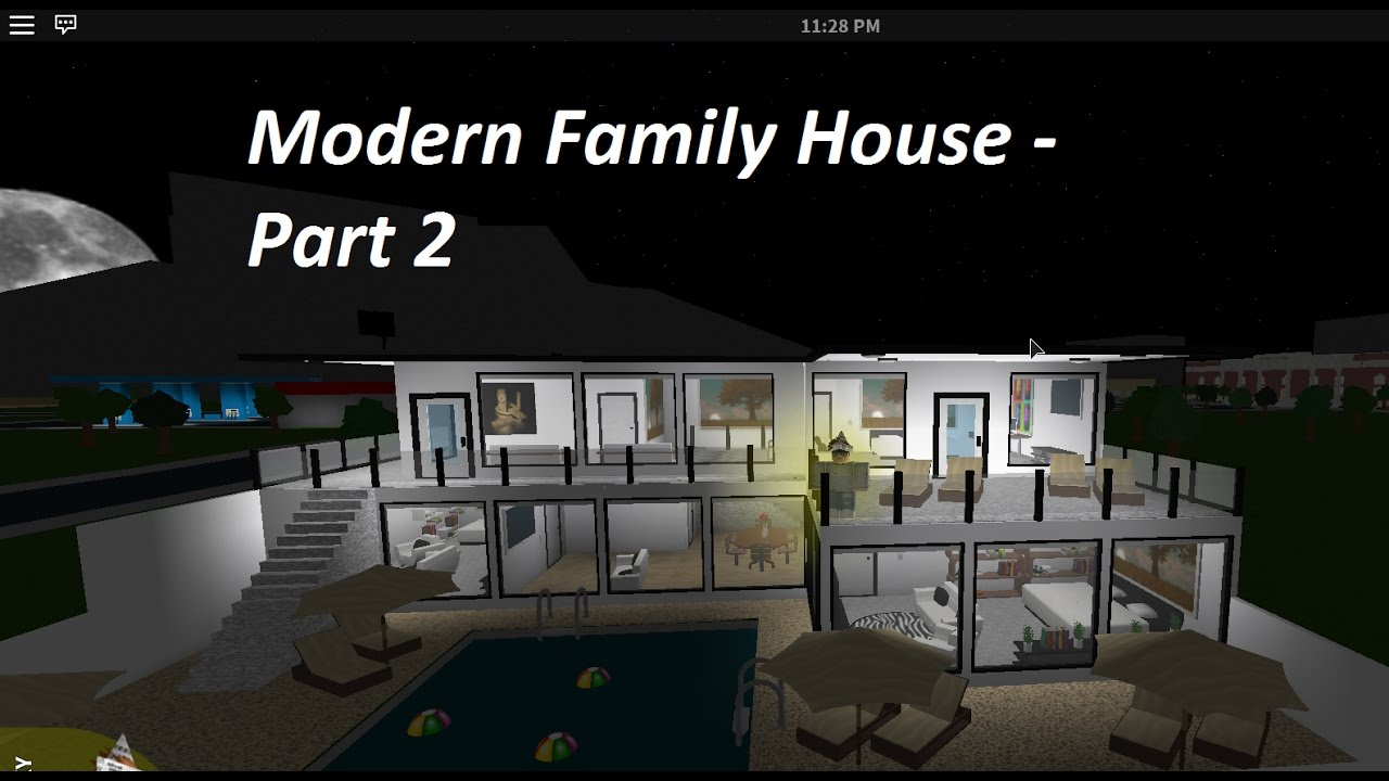 Roblox Bloxburg Speedbuilds Ep 6 Modern Family Home