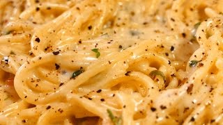 spaghetti with the best and easiest CHEESE sauce - Tasty food recipes for dinner