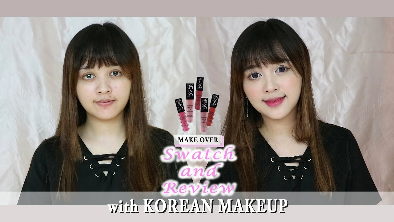 Swatch And Review Make Over Intense Matte Lip Cream With Korean 003 Secret Makeup