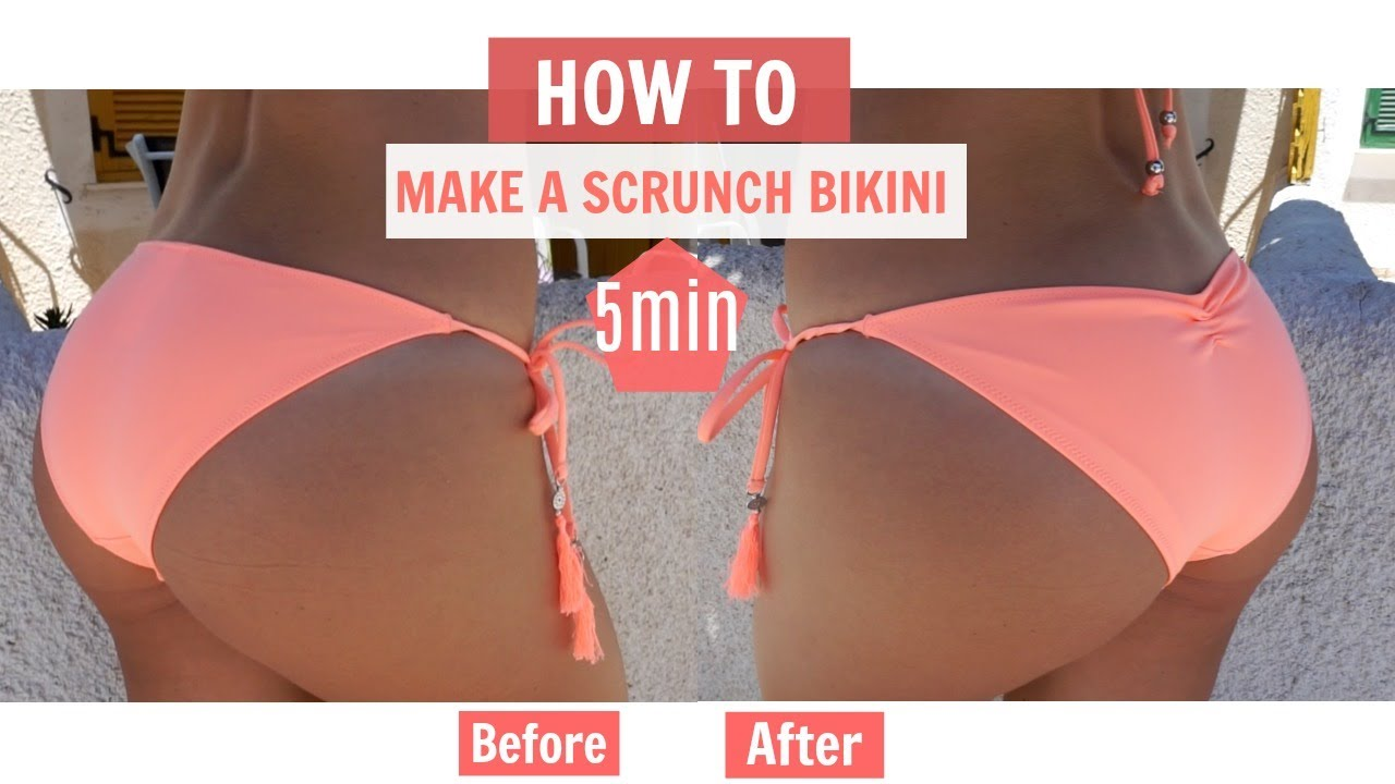 323085c4f11 How to Make a Scrunched BRAZILIAN BIKINI Bottom - YouTube