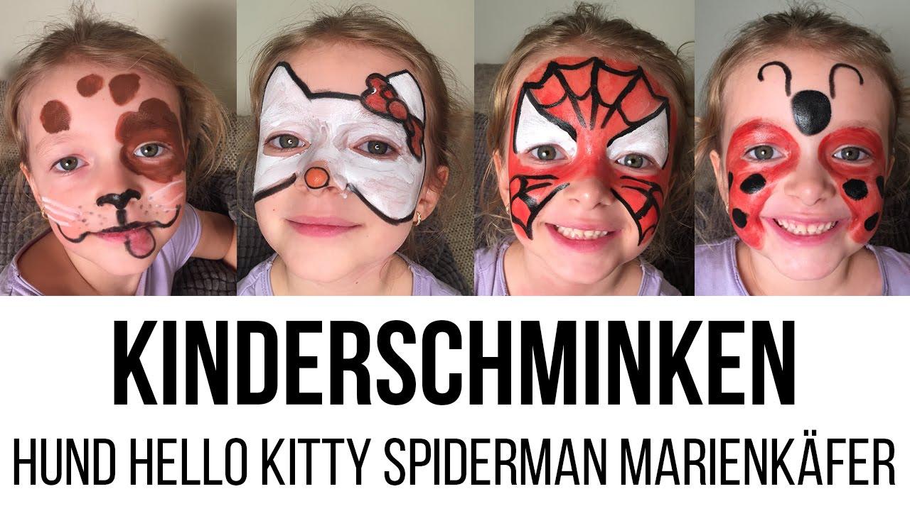 how to kinderschminken hund hello kitty spiderman marienk fer diana diamanta youtube. Black Bedroom Furniture Sets. Home Design Ideas