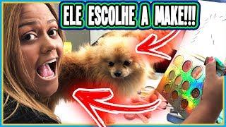 MEU CACHORRO DECIDIU MINHA MAQUIAGEM !!! (CHALLENGE)
