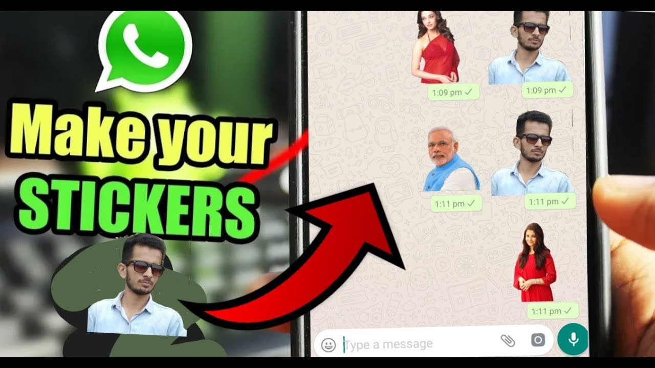 How to Make Your Own WhatsApp Stickers for Free in Hindi 2018