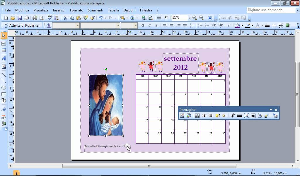 Fare Un Calendario Con Foto.Come Creare Un Calendario Con Pubblisher Wmv