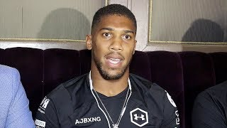 ANTHONY JOSHUA ON SEEING ANDY RUIZ JR AGAIN AFTER KO LOSS