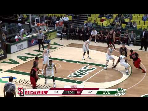 NCAA Basketball: Seattle University at Utah Valley University