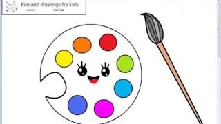 Як намалювати палітру кавайських живописців для дітей / пісню