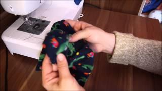 Anleitung und Schnitt zum Nähen : Jersey Mütze - Kindermütze Beanie Herbst + Weihnachten