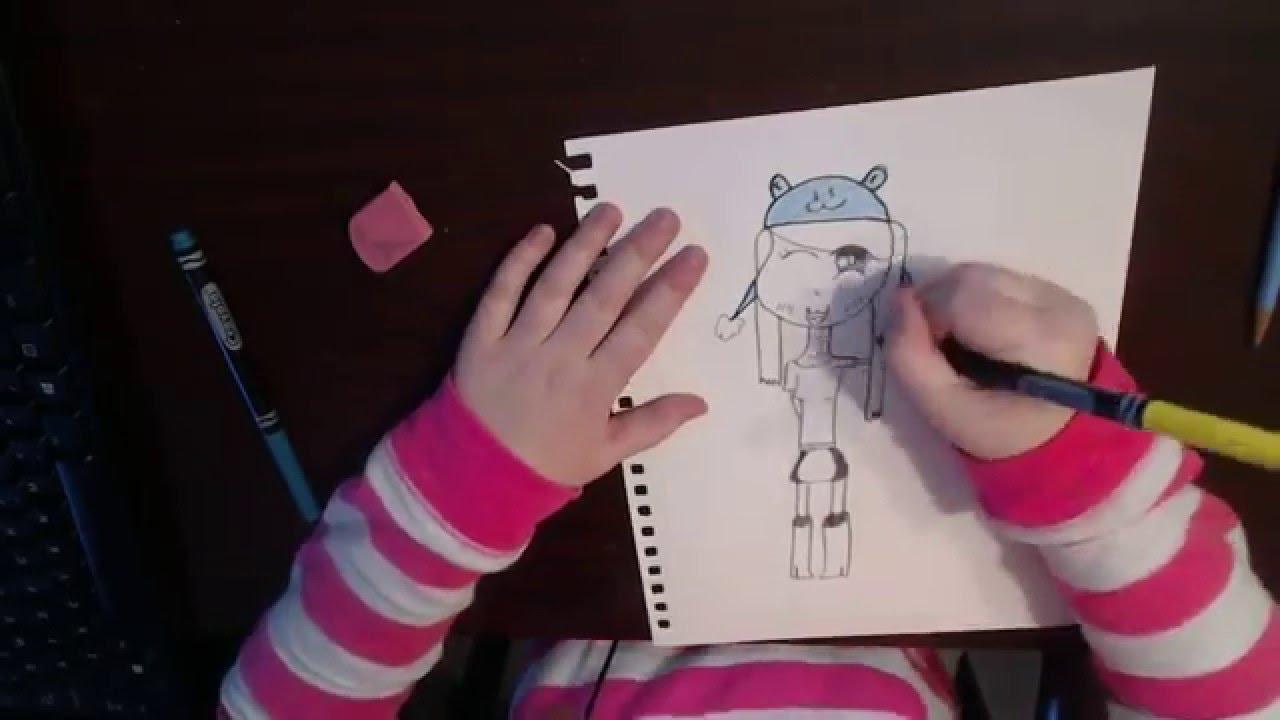 How To Draw A Chibi Girl Headphone Warning Youtube