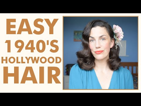 1940s hairstyle tutorial: