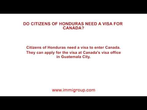 Do citizens of Honduras need a visa for Canada?