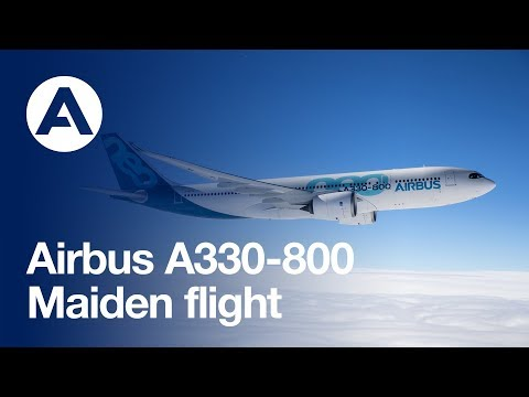 Airbus A330-800 performs its first flight