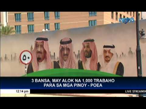 POEA gives more than a thousand job offers in Saudi, Taiwan and Germany