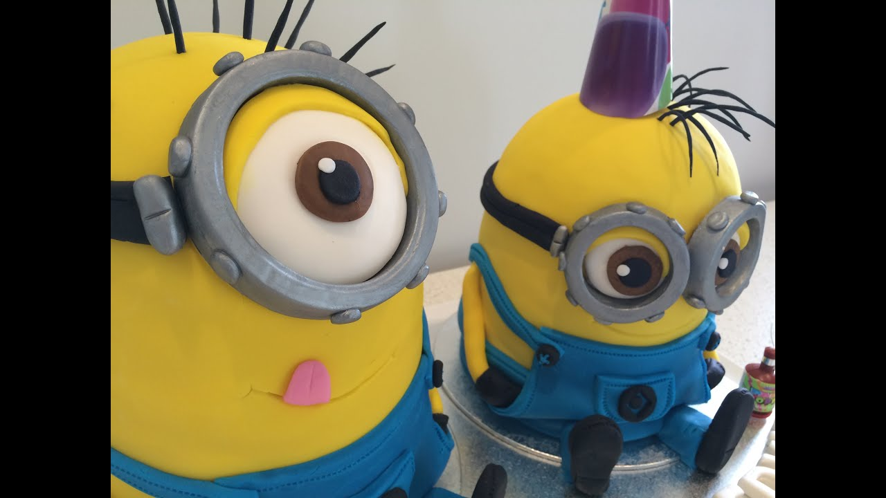 How To Make A Despicable Me 2 Minion Cake Step By Step Tutorial Part 2 Youtube