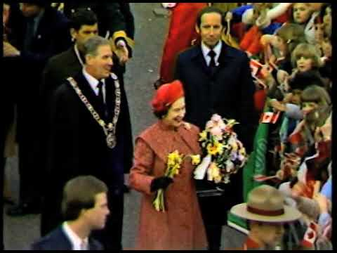 Queen Elizabeth II visits New Westminster 1983