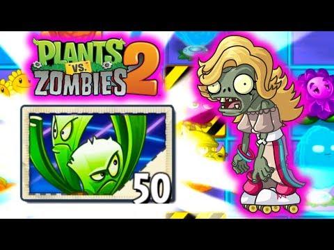 ZOMBIE NA ROLKACH I NOWA ROŚLINA ODBLOKOWANA!   PLANTS VS ZOMBIES 2 #54 #admiros