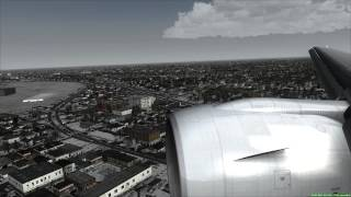Landing in Chicago Boeing 777-200ER [FSX HD]