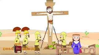 Jesus Is Crucified [corrected] I Stories of JesusI Animated Bible Stories | Holy Tales Bible Stories